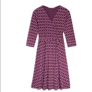 41 Hawthorn Geo Cube Jersey Faux Wrap Dress